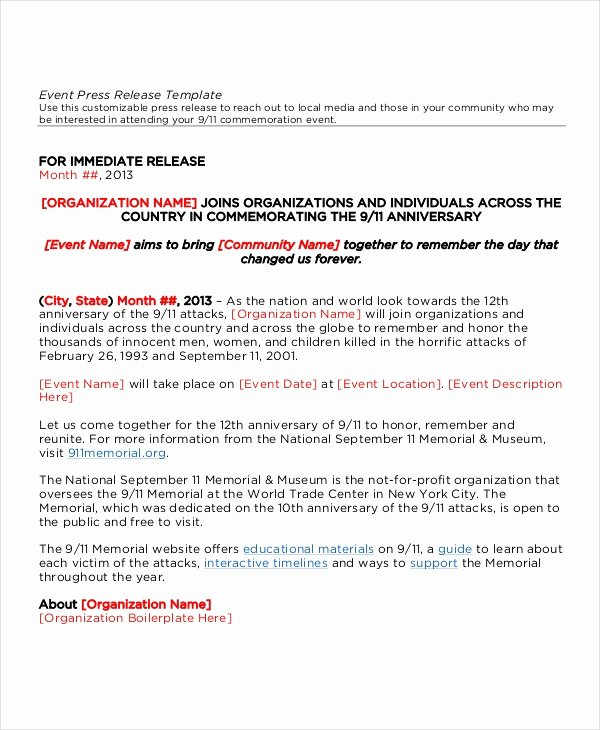 Press Release format Template Inspirational 22 Press Release Template Free Sample Example format