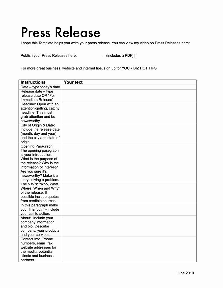 Press Release format Template Inspirational 46 Press Release format Templates Examples & Samples