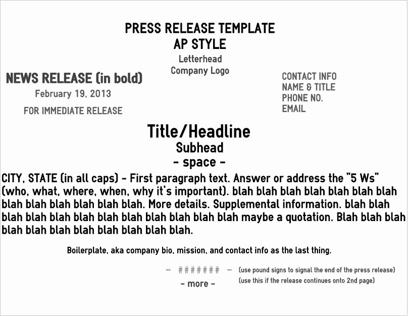 Press Release format Template Unique Five Pro Tips for A Rockin' News Release