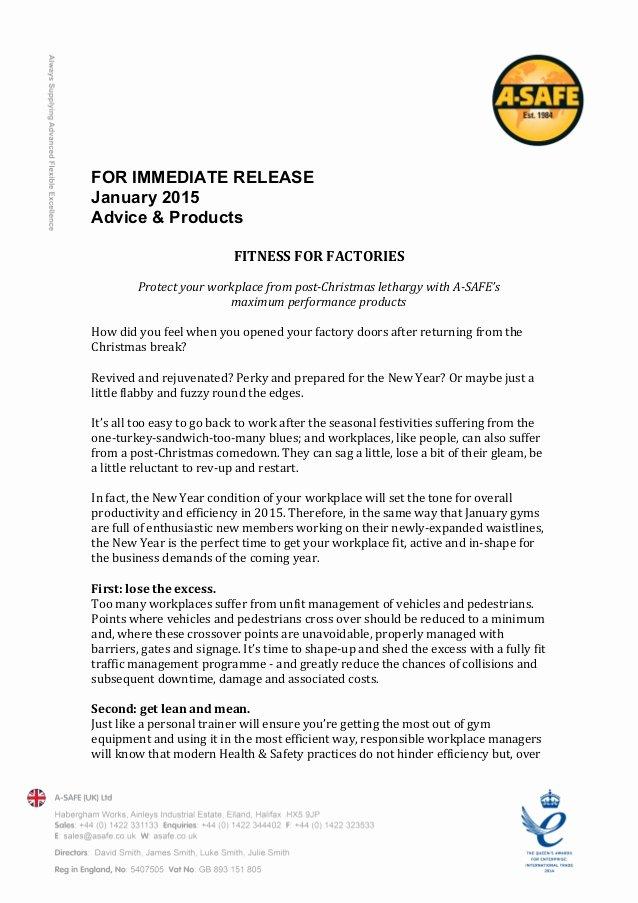 Press Release format Template Unique Press Release Template