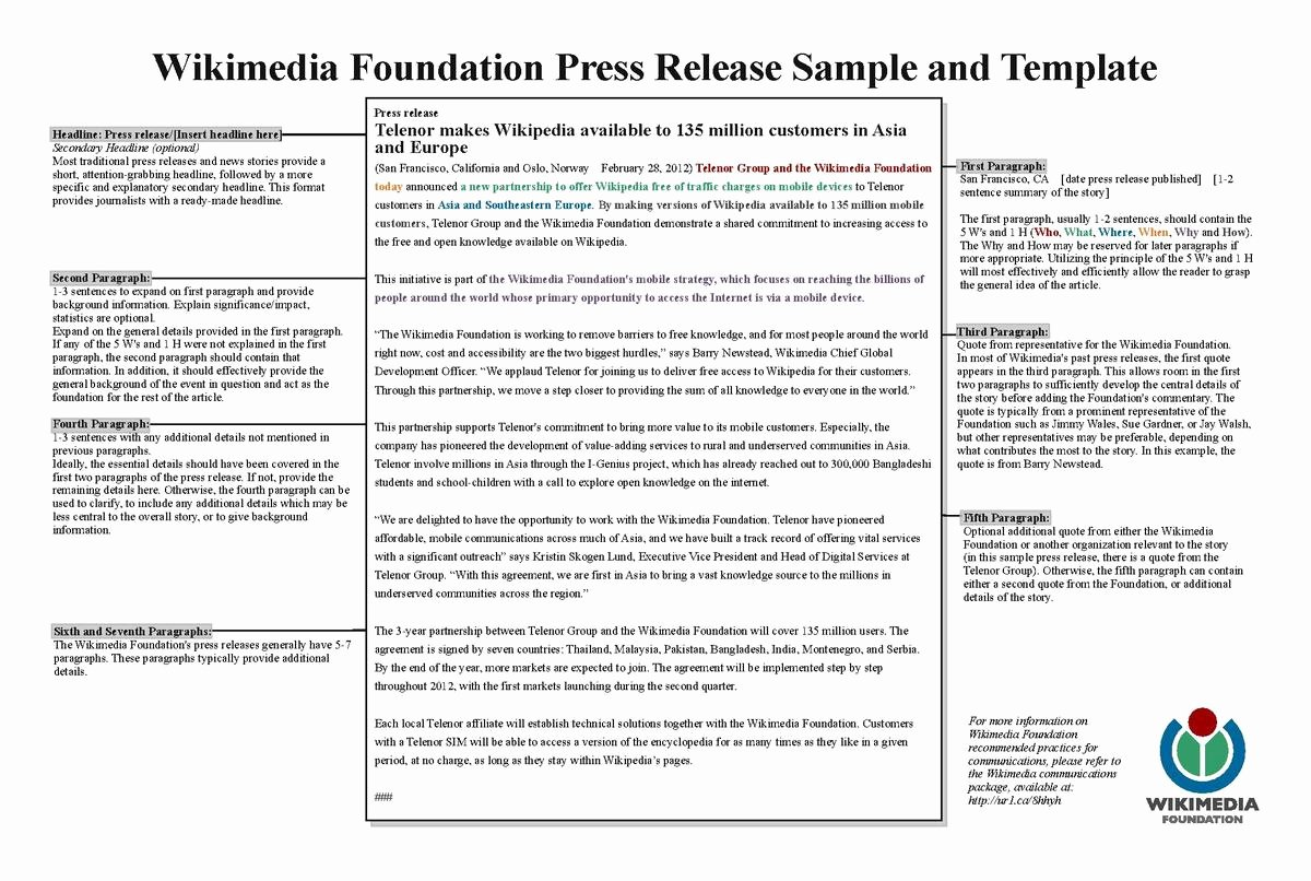 Press Release Sample Template Beautiful List Of Press Release Agencies