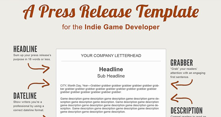 Press Release Sample Template Inspirational A Press Release Template Perfect for the In Game Developer
