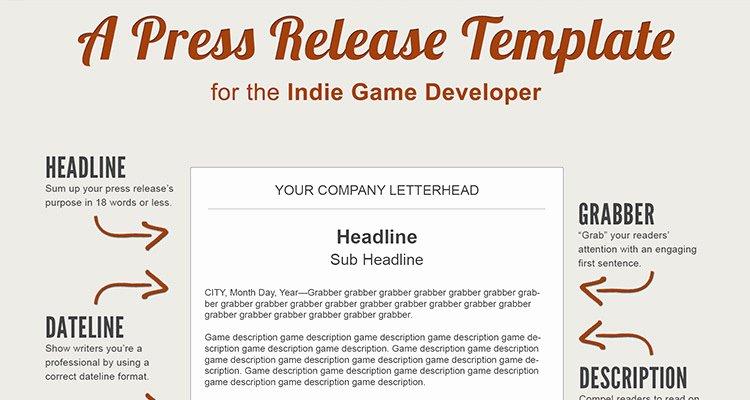 Press Release Sample Template Unique A Press Release Template Perfect for the In Game Developer