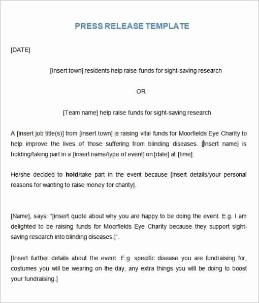 Press Release Template Doc Lovely 21 Free Press Release Template Word Excel formats
