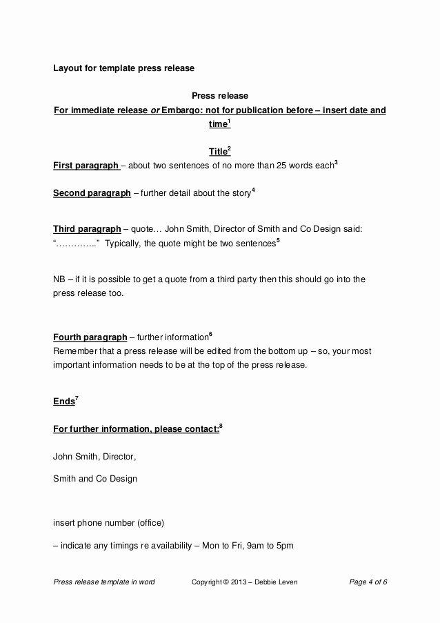 Press Release Template Doc Lovely Press Release Template Word