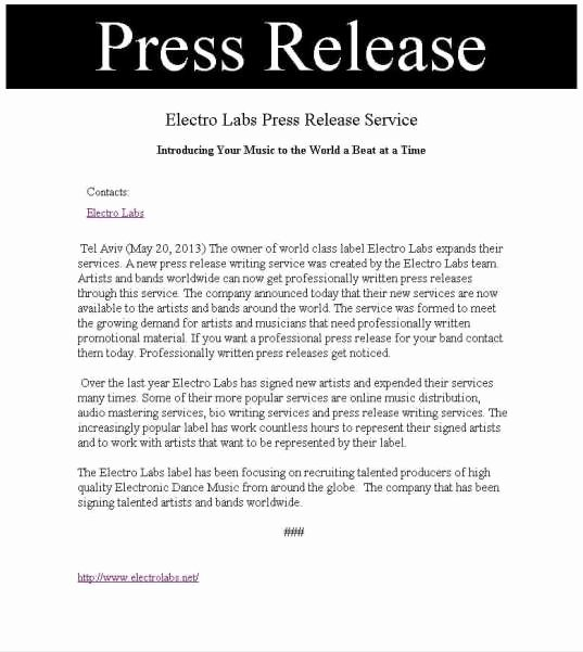 Press Release Template Doc Unique 21 Free Press Release Template Word Excel formats