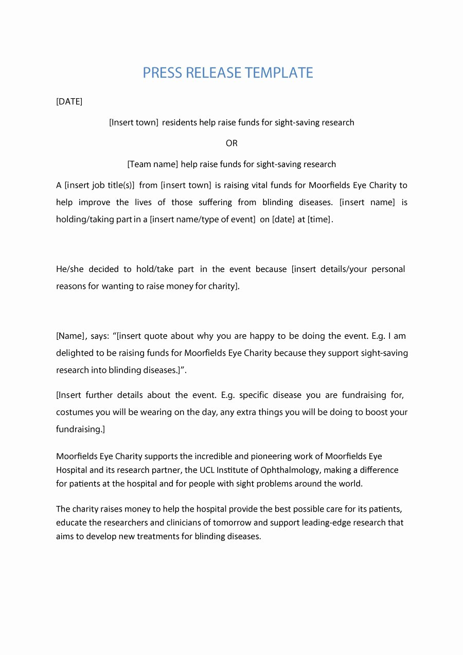 Press Release Template Free Beautiful 47 Free Press Release format Templates Examples & Samples