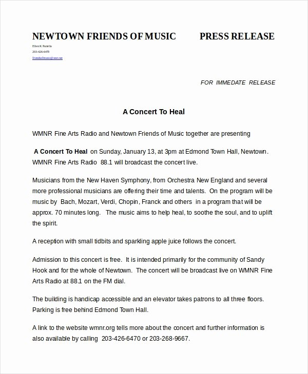 Press Release Template Free Lovely Press Release Template 20 Free Word Pdf Document