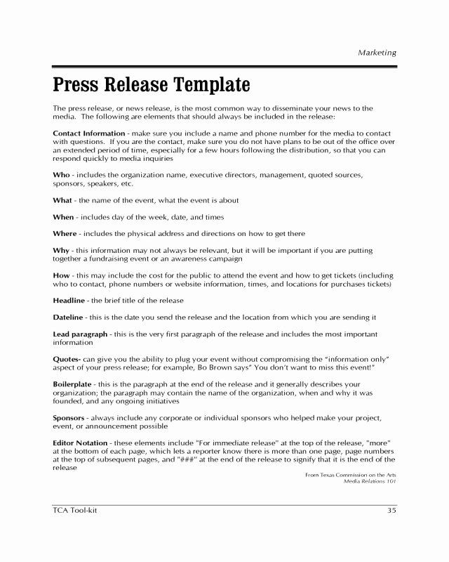 Press Release Template Free Luxury 2019 Press Release Template Fillable Printable Pdf