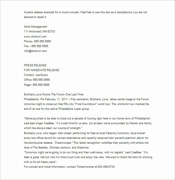 Press Release Template Free New 28 Press Release Template Word Excel Pdf