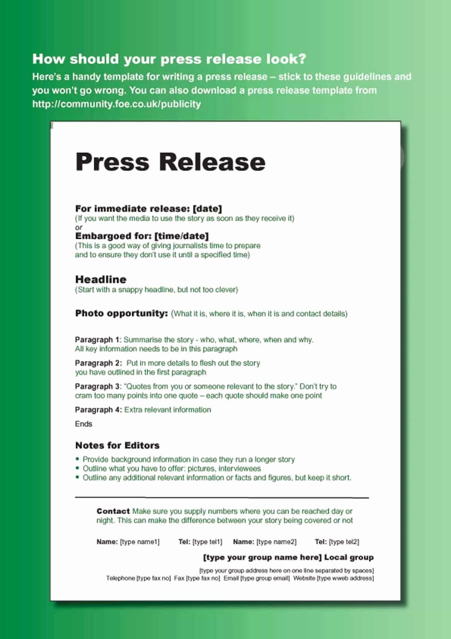 Press Release Template Free Unique 46 Press Release format Templates Examples & Samples