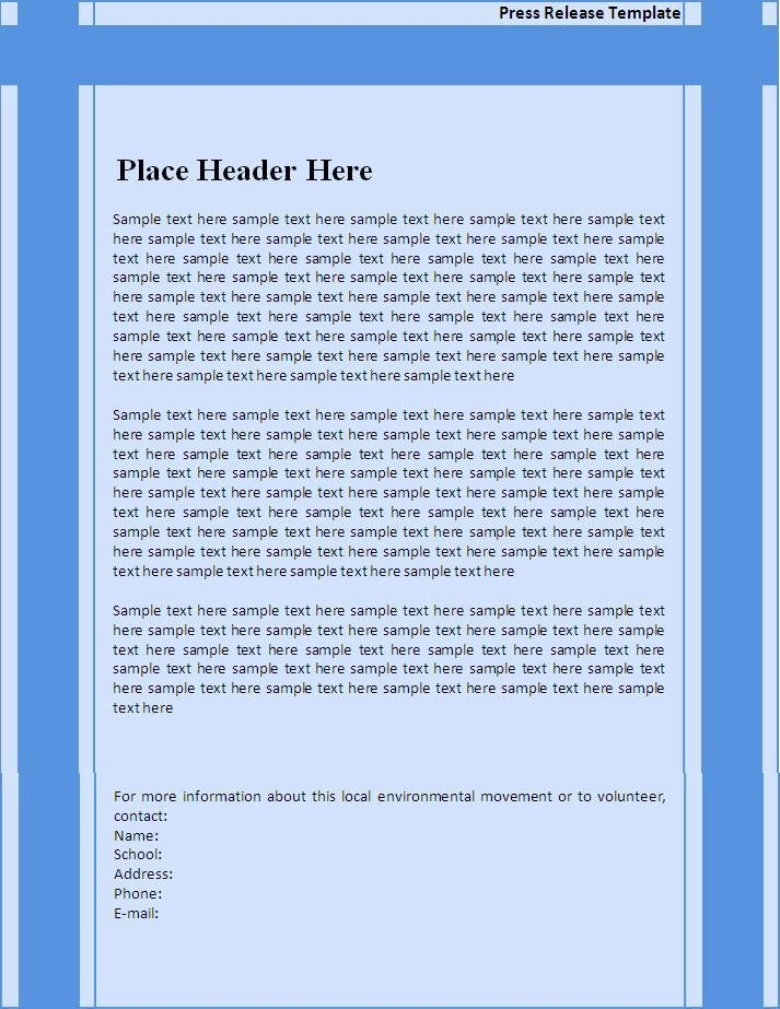 Press Release Template Word Awesome 6 Press Release Templates Excel Pdf formats