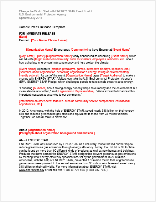 Press Release Template Word Elegant Press Release Template 15 Free Samples Ms Word Docs