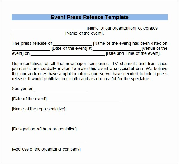 Press Release Template Word Fresh 8 Press Release Templates