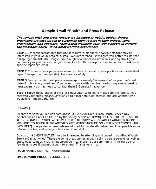 Press Release Template Word Inspirational Press Release Template 20 Free Word Pdf Document