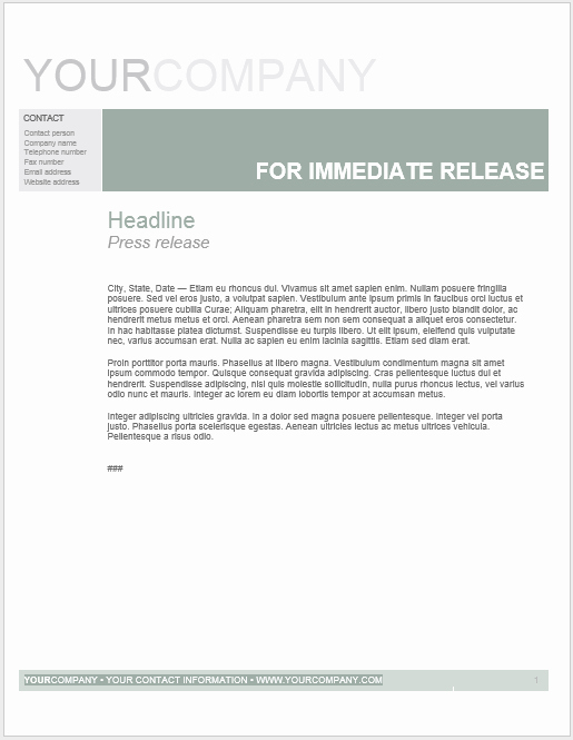 Press Release Word Template Best Of Press Release Template 15 Free Samples Ms Word Docs