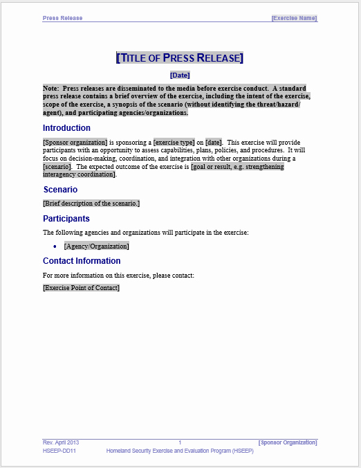 Press Release Word Template Unique Press Release Template 15 Free Samples Ms Word Docs