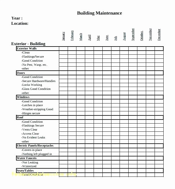 Preventative Maintenance Plan Template Awesome Maintenance Plan Template – Flybymedia
