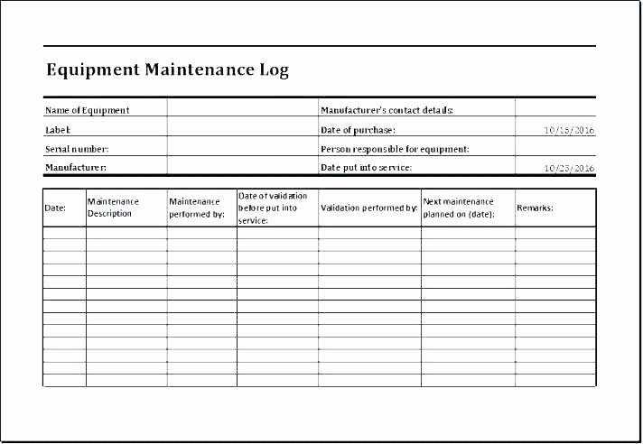 Preventative Maintenance Program Template New It Maintenance Plan Template Building Maintenance Plan