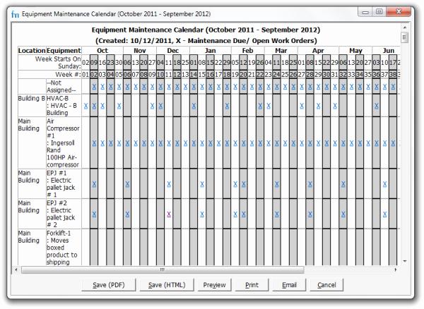 Preventative Maintenance Schedule Template Best Of Use Maintenance Calendars In Your Preventive Maintenance