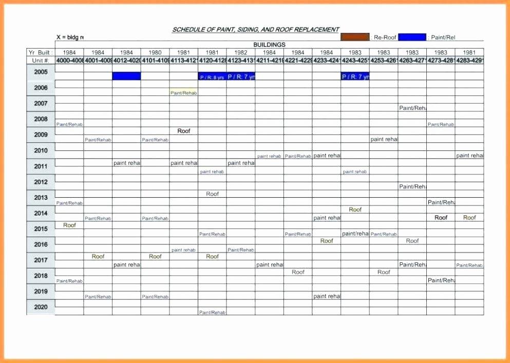 Preventative Maintenance Schedule Template Luxury It Maintenance Schedule Template Excel Preventive Semi