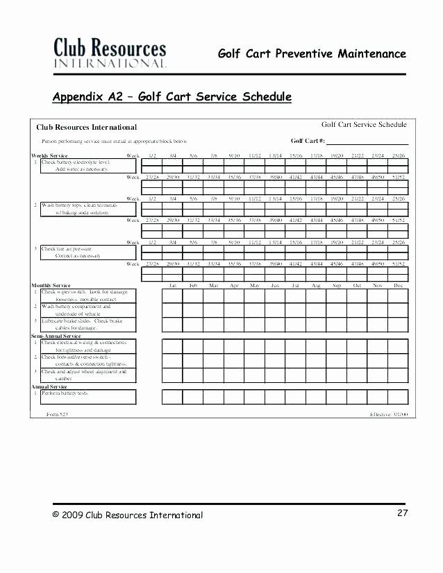 Preventative Maintenance Schedule Template New Yearly Maintenance Schedule Template – Psychicnights