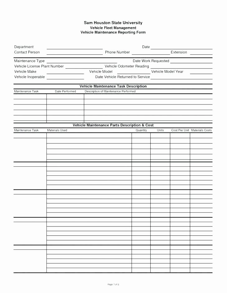 Preventive Maintenance Checklist Template Awesome 94 Vehicle Preventive Maintenance Schedule Preventive