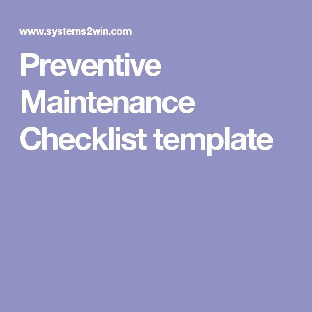 Preventive Maintenance Checklist Template Elegant 11 Best Hvac Images On Pinterest