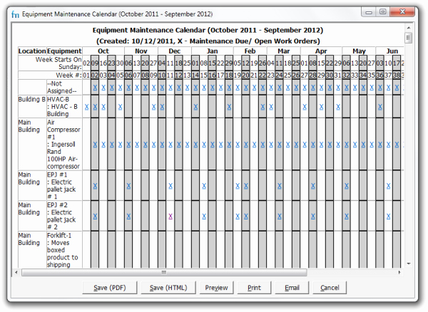 Preventive Maintenance Excel Template Inspirational Use Maintenance Calendars In Your Preventive Maintenance