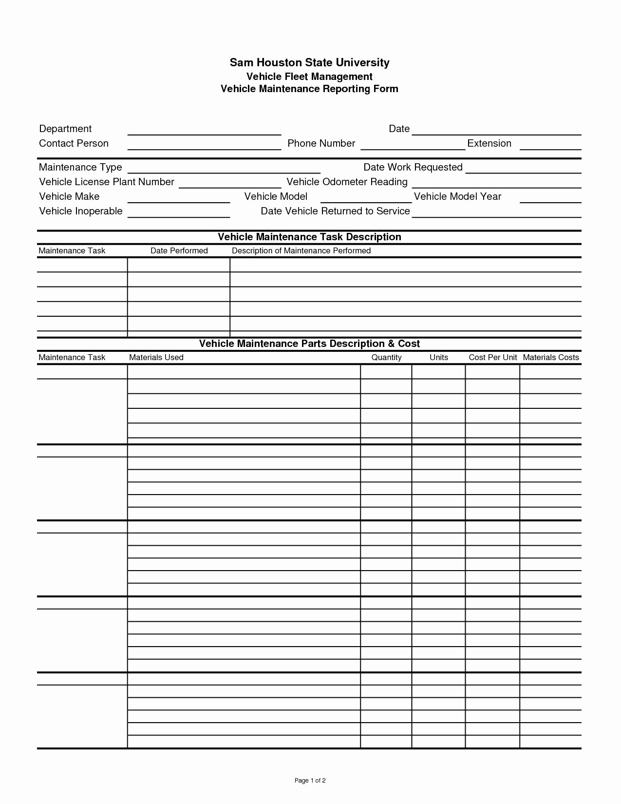 Preventive Maintenance Excel Template Lovely Preventive Maintenance Spreadsheet Spreadsheet softwar
