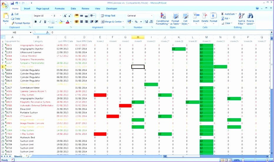 Preventive Maintenance Excel Template Unique 6 Preventive Maintenance Template Excel Exceltemplates