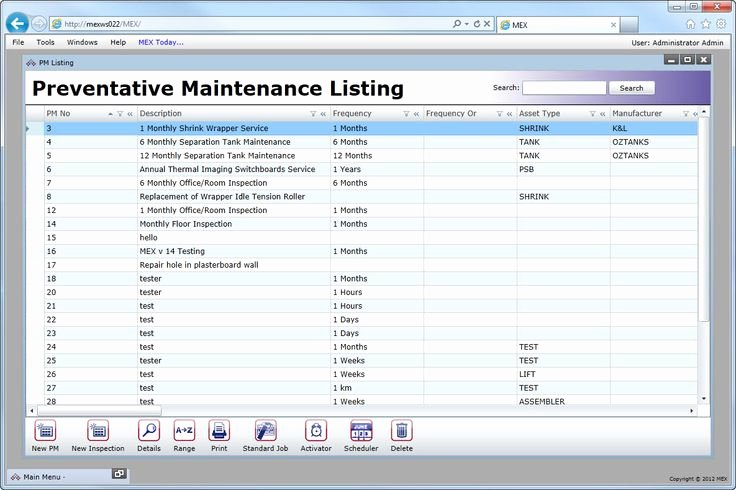 Preventive Maintenance Excel Template Unique Vehicle Preventive Maintenance Template Excel