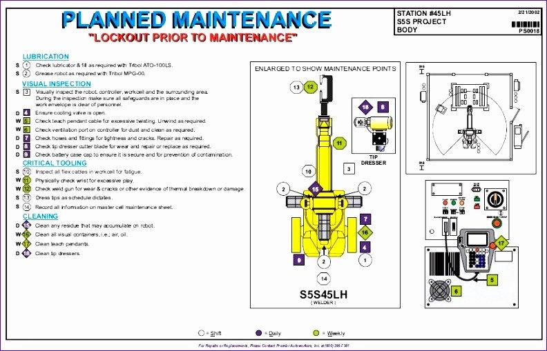 Preventive Maintenance Plan Template Lovely 6 Process Flow Chart Excel Template Exceltemplates