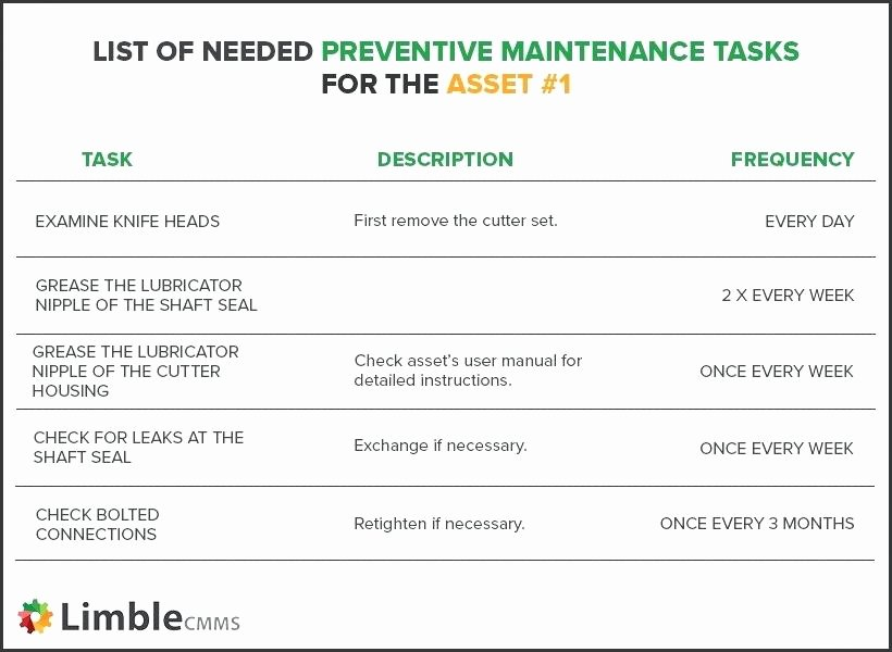 Preventive Maintenance Program Template Elegant Preventive Maintenance Program Template Image for