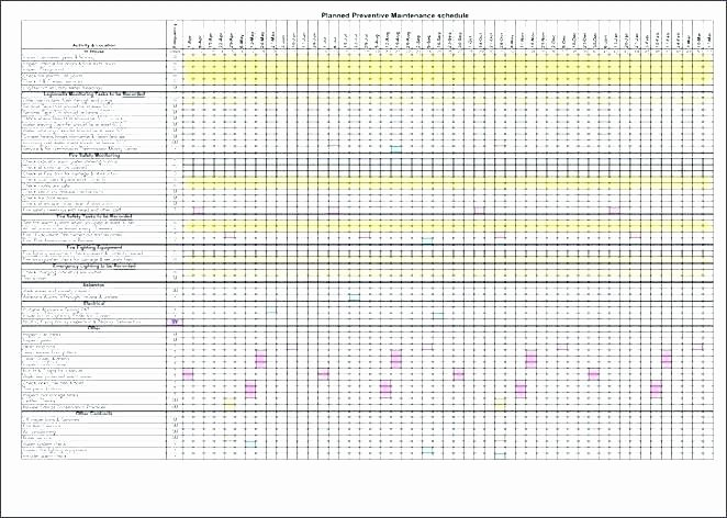 Preventive Maintenance Schedule Template Excel Beautiful Maintenance Preventive Log Template Templates for Google