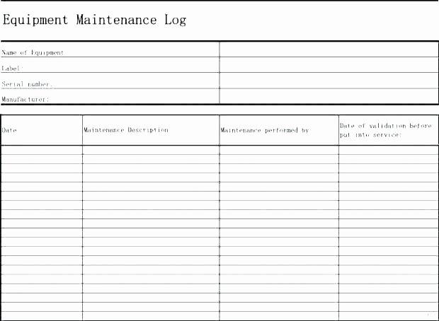 Preventive Maintenance Schedule Template Excel Fresh Machine Maintenance Schedule Template – Nasi Uyo