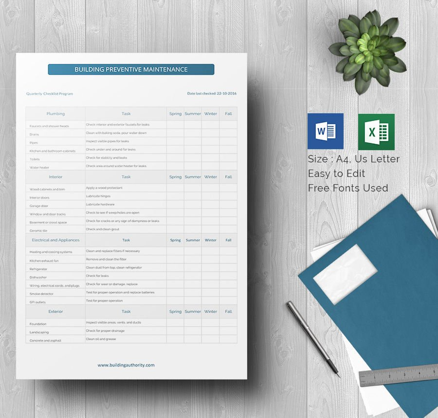 Preventive Maintenance Schedule Template Fresh 37 Preventive Maintenance Schedule Templates Word