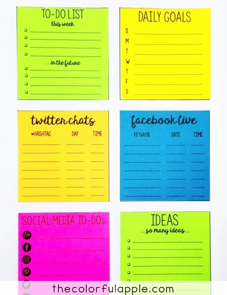 Print On Post It Template Awesome Printing On Post It Notes who Knew the Colorful Apple