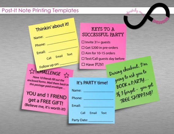 Print On Post It Template Elegant Items Similar to Post It Note Printing Templates Instant