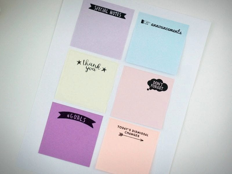 Print On Post It Template Elegant Printing On Post Its How to Plus Free Templates for Teachers