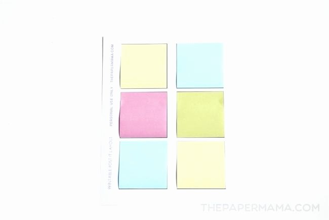 Print On Post It Template Fresh Printing Post It Notes Word Template Full Size