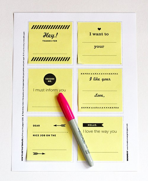Print On Post It Template Lovely Print Your Own Post It Notes