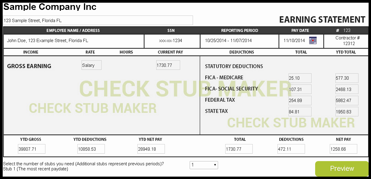 Print Your Own Checks Template Awesome Check Stub Template