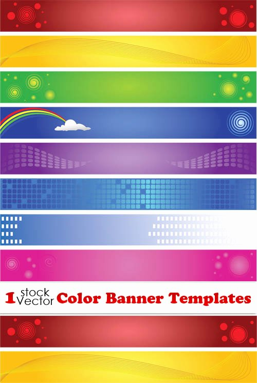 Printable Banner Template Free Awesome Elements Of Color Banner Templates Vector Vector Banner