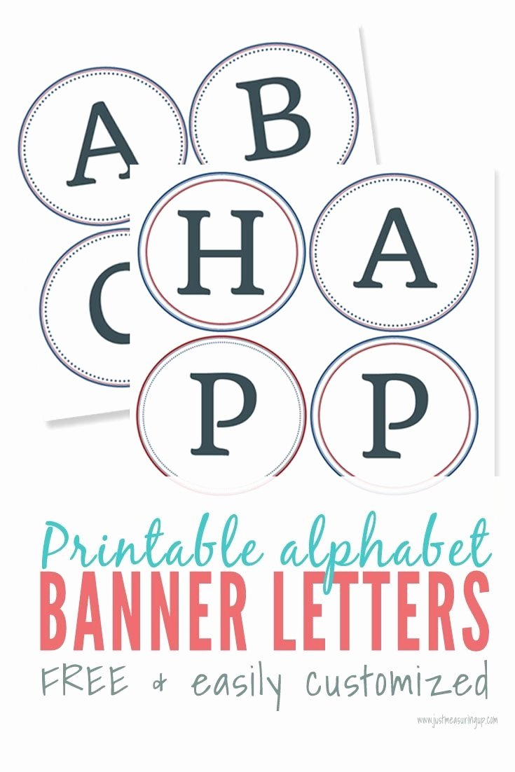 Printable Banner Template Free Best Of Free Printable Alphabet Letters Banner