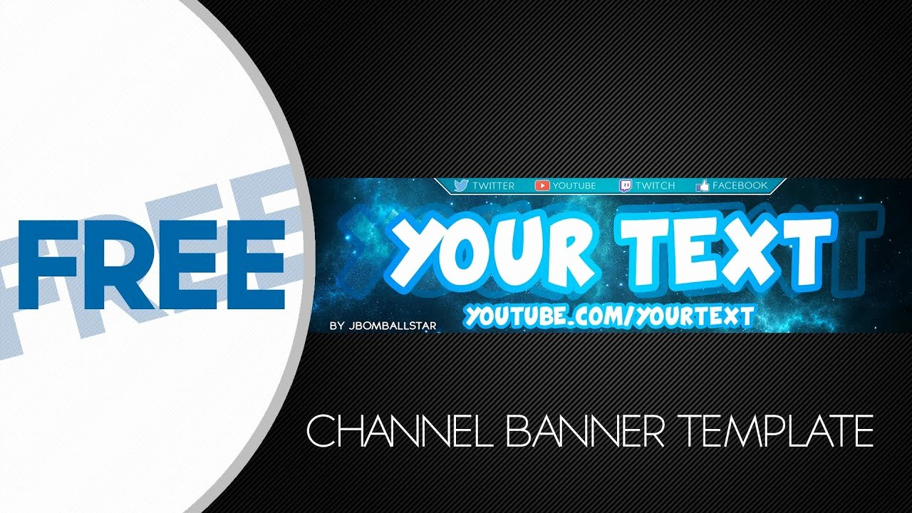 Printable Banner Template Free Elegant [speedart] Free Hd Youtube Channel Banner Template