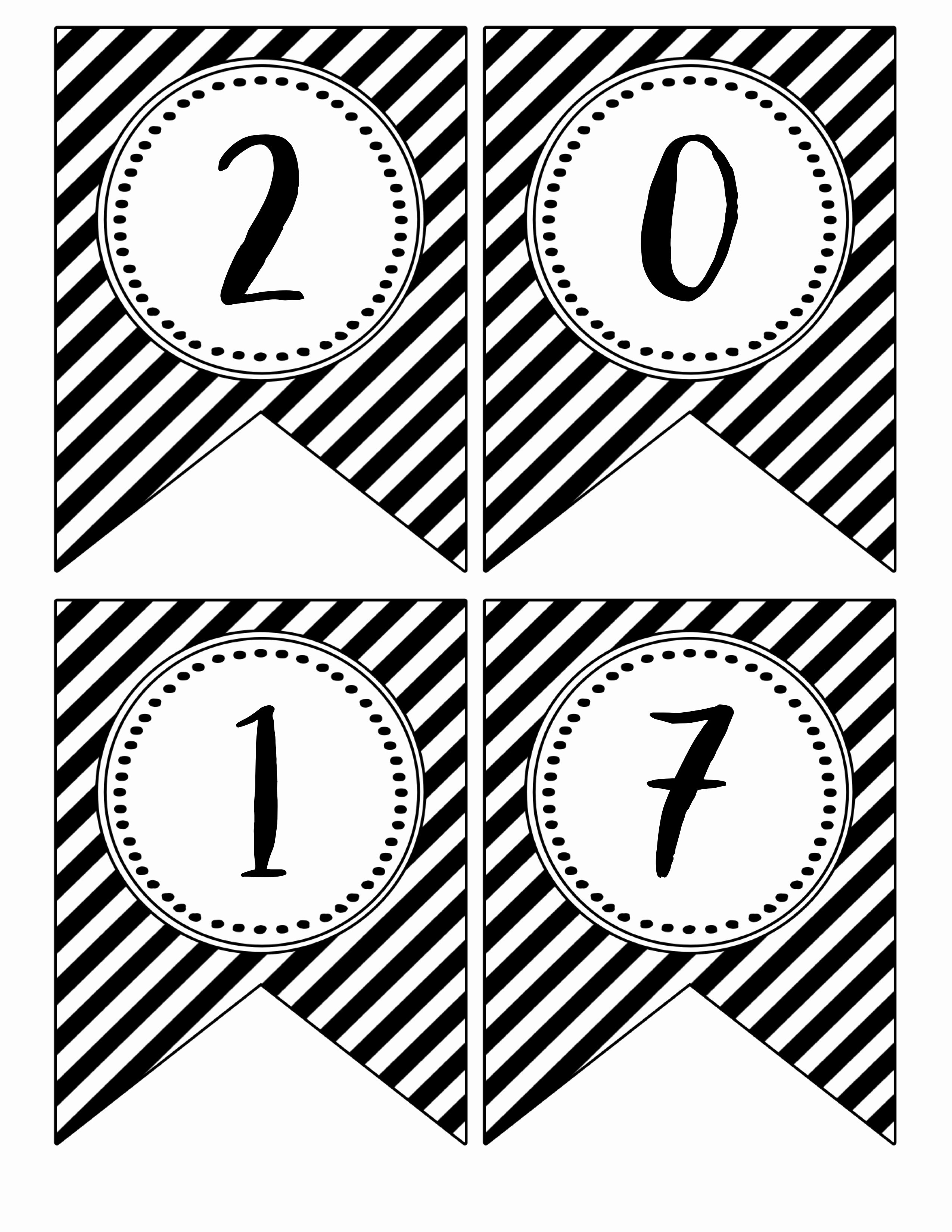 Printable Banner Template Free Fresh Happy New Year Banner Printable Paper Trail Design