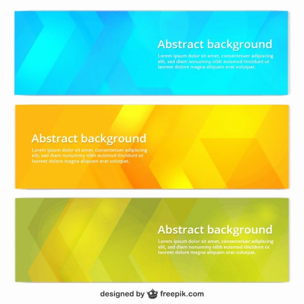 Printable Banner Template Free Inspirational Colorful Banner Templates Vector