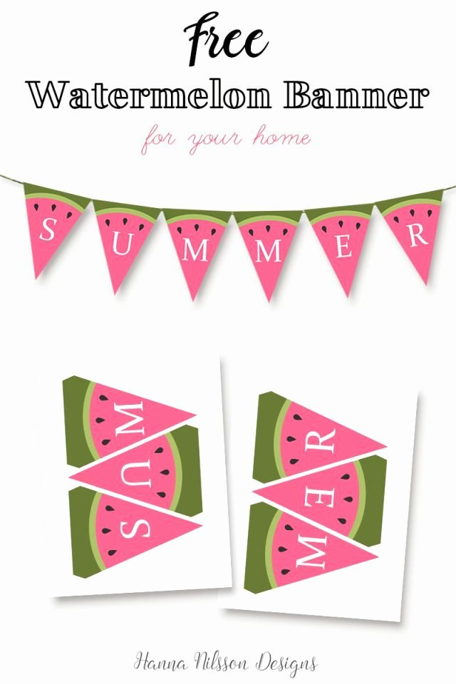 Printable Banner Template Free Inspirational Watermelon Summer Printable Banner Decorate Your Home for