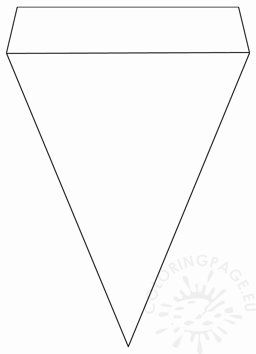 Printable Banner Template Free Lovely Printable Pennant Banner Template – Coloring Page